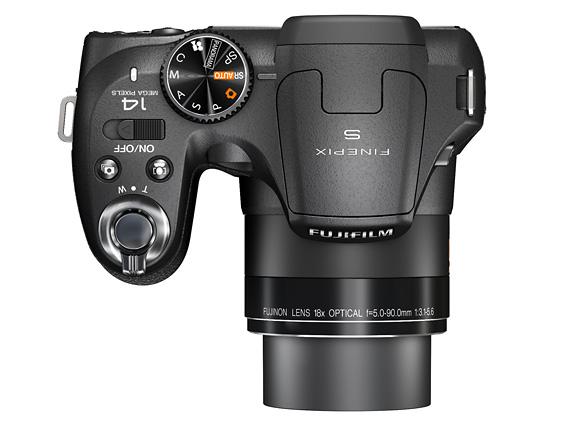 Fujifilm Finepix S2980 üst görünüm